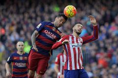 Dani Alves of FC Barcelona Stock Images