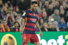 Dani Alves of FC Barcelona Royalty Free Stock Images