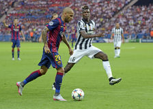Dani Alves and Paul Pogba Royalty Free Stock Images