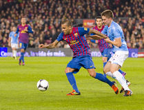 Dani Alves von FC Barcelona lizenzfreie stockfotos