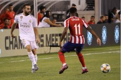 Dani Carvajal of Real Madrid #2 in action during match against Atletico de Madrid in the 2019 International Champions Cup