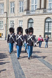 Dani copenhagen Odmienianie strażnik Amalienborg Pa Obrazy Royalty Free