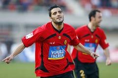 Dani Guiza庆祝在进球以后 免版税库存照片