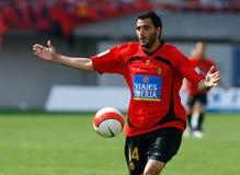 Dani Guiza som gör en gest under den gameplay matchen Royaltyfria Bilder