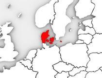 Dani Ilustrował abstrakta 3D mapę Północny Europa Zdjęcia Royalty Free