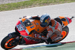 Dani Pedrosa 妖怪能量Catalunya MotoGP格兰披治  免版税库存图片
