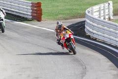 Dani Pedrosa de competir con del equipo de Repsol Honda Foto de archivo libre de regalías
