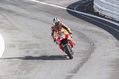 Dani Pedrosa di corsa del gruppo di Repsol Honda Fotografie Stock Libere da Diritti