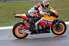 Dani Pedrosa en el motoGP malasio Imagen de archivo