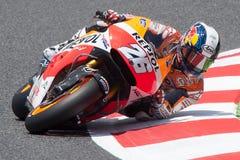 Dani Pedrosa Gigantisk energigrand prix av Catalunya MotoGP Arkivfoton