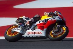 Dani Pedrosa MotoGP Montmelo Στοκ εικόνα με δικαίωμα ελεύθερης χρήσης
