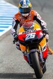 Dani Pedrosa proef van MotoGP Stock Foto's