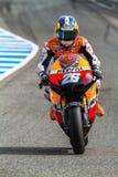 Dani Pedrosa proef van MotoGP Stock Afbeelding