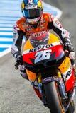 Dani Pedrosa proef van MotoGP Royalty-vrije Stock Fotografie