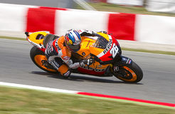 Dani Pedrosa racing Royalty Free Stock Photo