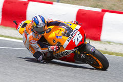 Dani Pedrosa racing Royalty Free Stock Image