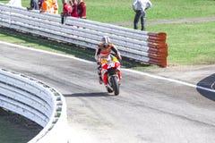 Dani Pedrosa of Repsol Honda team racing Royalty Free Stock Photography