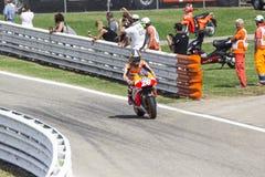 Dani Pedrosa of Repsol Honda team racing Royalty Free Stock Photo