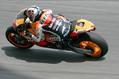 Dani Pedrosa of Spain in action at Sepang Stock Image