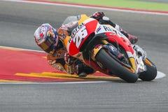 Dani Pedrosa Team Repsol Honda Grand Prix Movistar del ³ n de Aragà Foto de archivo libre de regalías