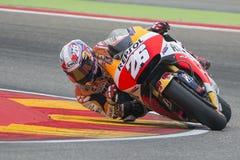 Dani Pedrosa Team Repsol Honda Grand Prix Movistar del ³ n de Aragà Fotos de archivo