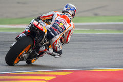 Dani Pedrosa Team Repsol Honda Grand prix Movistar du ³ n d'Aragà Photos stock
