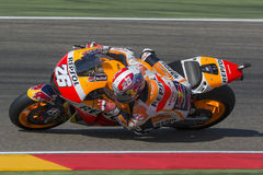 Dani Pedrosa Team Repsol Honda Grand prix Movistar du ³ n d'Aragà Photographie stock libre de droits