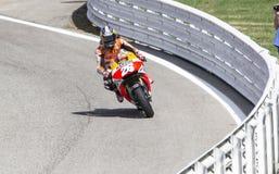 Dani Pedrosa van het team van Repsol Honda het rennen Stock Afbeelding