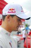 Dani Sordo på Moskvastaden Racing Arkivfoto