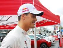 Dani Sordo på Moskvastaden Racing Royaltyfri Bild