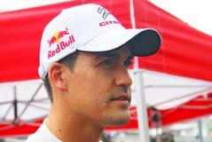Dani Sordo på Moskvastaden Racing Royaltyfria Bilder