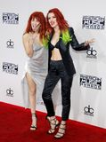 Dani Thorne and Bella Thorne. At the 2016 American Music Awards held at the Microsoft Theater in Los Angeles, USA on November 20, 2016 stock photography