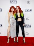 Dani Thorne and Bella Thorne. At the 2016 American Music Awards held at the Microsoft Theater in Los Angeles, USA on November 20, 2016 royalty free stock image