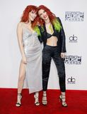 Dani Thorne and Bella Thorne. At the 2016 American Music Awards held at the Microsoft Theater in Los Angeles, USA on November 20, 2016 stock image