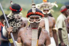 Free Dani Tribesmen At The Annual Baliem Valley Festival. Stock Photo - 122012670
