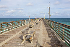 Dania Beach fishing pier, Florida Royalty Free Stock Photography