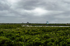 Dania Beach-Himmellinie Ansicht Lizenzfreie Stockfotografie