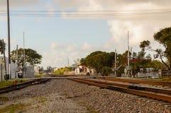 Dania Beach-spoorweg Stock Fotografie