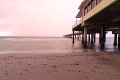 Dania beach thunderstorm morning. Dania beach morning thunderstorm morning sunrise stock images