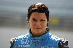 Danica Patrick. A picture of Danica Patrick with her game face on as she waits to qualify for the pole position in the Indianapolis 500 Royalty Free Stock Photography