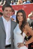 Danica Patrick et Ricky Stenhouse Jr Images stock