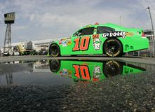 Danica Patrick in garage area Royalty Free Stock Image
