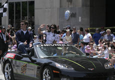 Danica Patrick Greets people at Indy 500 Festival Parade Stock Image