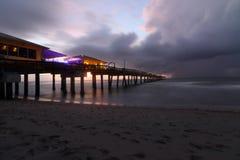 Danie plaży burzy ranek Zdjęcie Stock