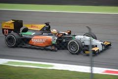 Daniel Abt 2014 GP2 serie Monza på parabolicaen Royaltyfri Bild