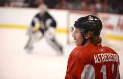 Daniel Alfredsson of Ottawa Senators Stock Images