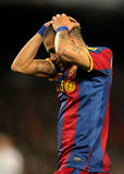 Daniel Alves of Barcelona. During the match between FC Barcelona and Real Zaragoza at the Nou Camp Stadium on March 5, 2011 in Barcelona, Spain Stock Images