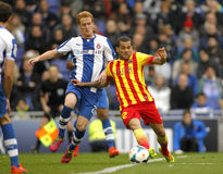 Daniel Alves de FC Barcelone Image stock