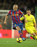 Daniel Alves of FC Barcelona. FC Barcelona player Daniel Alves during Spanish soccer league match between FC Barcelona and Villarreal at the Nou Camp Stadium on Stock Photography