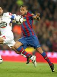 Daniel Alves of FC Barcelona. Dani Alves of Barcelona in action during a Spanish League match between FC Barcelona and RC Deportivo at the Nou Camp Stadium on Royalty Free Stock Photos